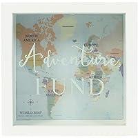 Jones Home and Gift Adventures Fund Frame Money Box, White