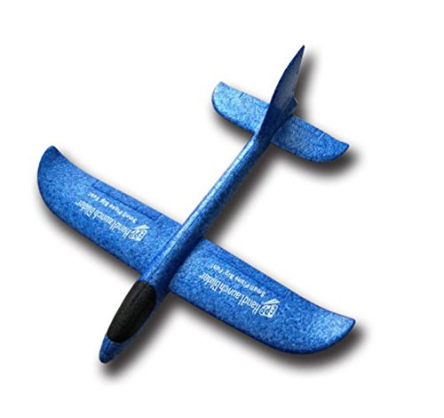 Mini Hand Launch Glider Avión Planeador de lanzamiento de mano EPP vuelo Libre (480AZUL)