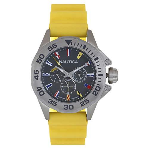 Nautica orologio analogico classico quarzo uomo con cinturino in silicone napmia003