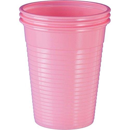 Einwegbecher Rosa Plastikbecher Trinkbecher Becher Kunststoff Einweg 0,18 Liter ()