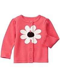 Gymboree Girls' Pink Daisy Cardigan Sweater