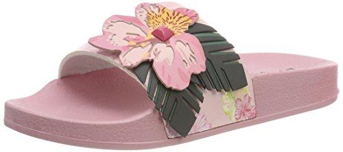 Desigual Shoes_Slide Malibu, Sandalias con Punta Abierta para Mujer, Multicolor 3103 Crystal Pink...