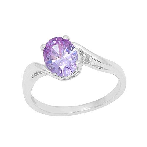 Shine Jewel  -  925 Sterling-Silber  Sterling-Silber 925 Ovalschliff   lila Améthyste