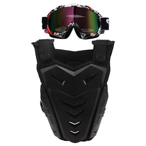 Guard Neck Motorrad (POSSBAY Brustpanzer Ruecken Schutz Sportbrille Motorrad Brille Off Road Motorcross Ski Skating)
