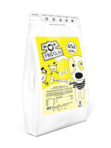 Fridolin Premium Trockenfutter mit Huhn & Reis für ausgewachsene Hunde, 1 Beutel (1 x 8 kg) Hund Huhn Und Reis