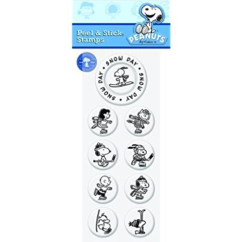 PSA Essentials Peel & Stick Stamps, Peanuts Snow Day by PSA Essentials