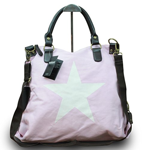 My-Musthave, Borsa tote donna Rosa Rosa Stern Weiß Centre Rosa Stern Weiß