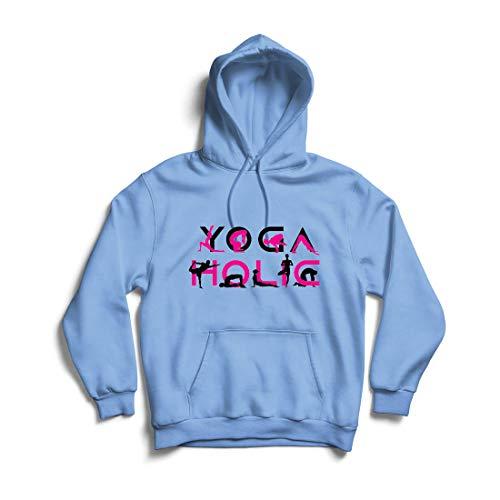 lepni.me Kapuzenpullover Yoga Holic, Positive Vibrationen, motivierende Workout-Zitate, Yogi-Liebhaber-Geschenk (X-Large Blau Mehrfarben)