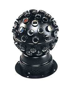 Kool Light Stered Effet lumière à LED RVB Type Boule tournante multi faisceaux 1 x 9 W