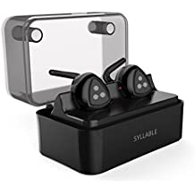 Auriculares Bluetooth Estéreo, Syllable D900 mini Auriculares deportivos in ear Bluetooth 4.2 Manos Libres con microfono con Caja de Carga para iPhone y otros Smart Phones-Negro