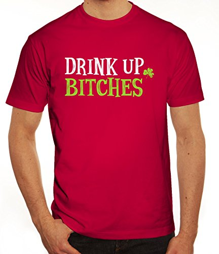 Saint Patrick´s Day St. Patricks Day Herren T-Shirt mit Drink Up Bitches Motiv Sorbet