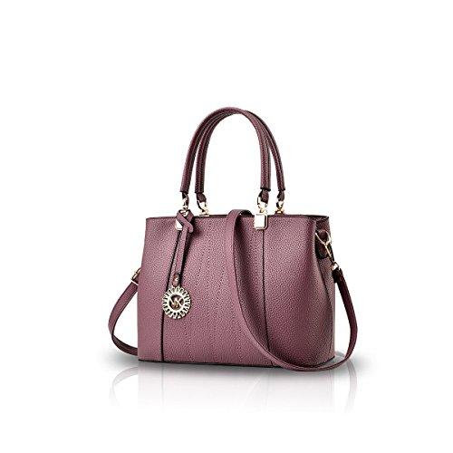 Bilis, Borsa a mano donna, Gray (grigio) - Bilis-599 Purple