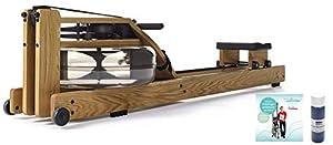 NOHrD Rudergerät Waterrower Eiche Inklusive Trainingsanleitung und Wasserfarbe