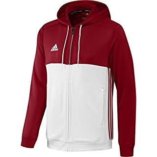 adidas T16 Men's Hooded Top Hoodie Multi-Coloured Power Red/White Size:M