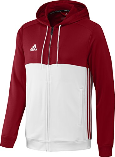 adidas Herren Hoody T16, Power Red/White, S, AJ5411