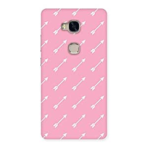 Special Pink And Arrow Multicolor Back Case Cover for Huawei Honor 5X