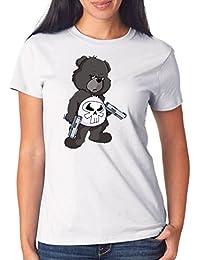 Punisher Bear T-Shirt Girls White Certified Freak