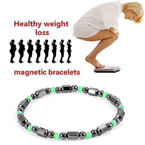 WESEEDOO Armband-Hämatit-magnetischer Gewichts-Verlust, der Armband-magnetische Therapie abnimmt -