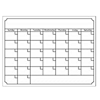 YOMYM Dry Erase Monthly Calendar Set-Large Magnetic White Board & Grocery List Organizer For Kitchen Refrigerator-Best For Smart Planners Includes 4 Marker Pens With Eraser