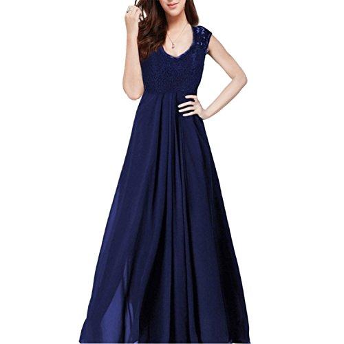 hanluckystars-vestido-largo-elegante-de-gasa-encaje-v-cuello-sin-mangas-para-mujer-negroazul