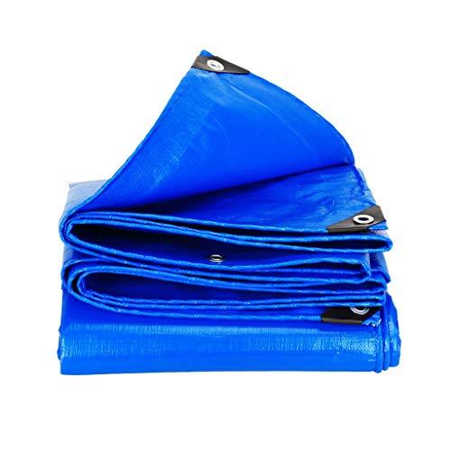 DUOER HOME-Abdeckplanen Outdoor Dicke wasserdichte Sonnenschutzplane Cargo Car Regenplane Zelt Kunststoff Markise Tuch Tarps anpassbare Größe blau (Color : Blue, Größe : 3 * 3M) -