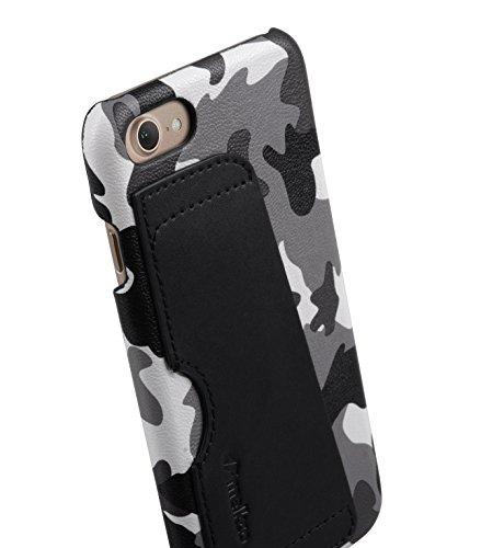 Apple Iphone 7 Melkco Elite-Serie Premium Leder-Snap zurück Tasche Tasche mit Premium-Leder Handgefertigte gute Schutz, Premium Feel-Tan Schwarz 12
