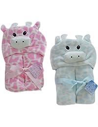 Envoltura de bebé con capucha de lujo, envoltura de manta polar