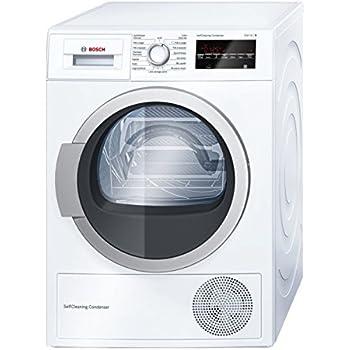Bosch Serie 6 WTW87460FF Autonome Charge avant 8kg A++ Blanc - sèche-linge (Autonome, Charge avant, Pompe à chaleur, Blanc, boutons, Rotatif, Droite)