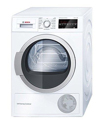 Bosch Serie 6 WTW87460FF Autonome Charge avant 8kg A++ Blanc sèche-linge - Sèche-linge (Autonome, Charge avant, Pompe à chaleur, Blanc, boutons, Rotatif, Droite)
