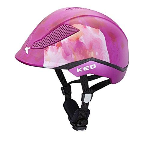 Preisvergleich Produktbild KED Reithelm PINA flower violet Gr. M (51-56 cm)