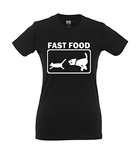 Girlie-Shirt - Fast Food Schwarz