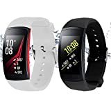 Rukoy Correas Samsung Gear Fit 2 Band/Gear Fit 2 Pro [Paquete de 2:...