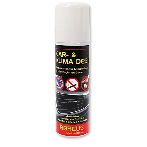 ABACUS CAR- & Klima DESI 200 ml (3109) - Klimareiniger Klimaanlagenreiniger Klimadesinfektion Klimaanlagendesinfektion Klima Anlagen Reiniger Desinfektion - Air Conditioner Cleaner AC-Cleaner