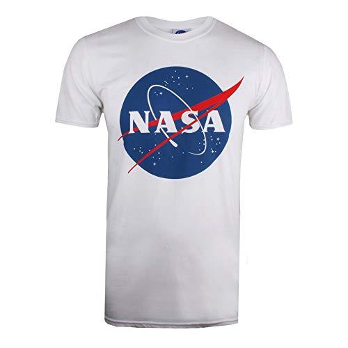 Nasa circle logo t-shirt, bianco white, large uomo