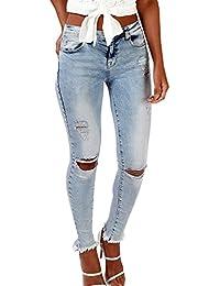Femme Jeans Taille Haute Pantalon Slim Pantalons