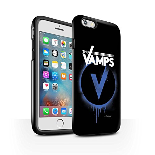 Offiziell The Vamps Hülle / Glanz Harten Stoßfest Case für Apple iPhone 6S+/Plus / Pack 6pcs Muster / The Vamps Graffiti Band Logo Kollektion Blau V