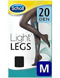Scholl Medias de compresión ligera Light Legs 20DEN color negro M