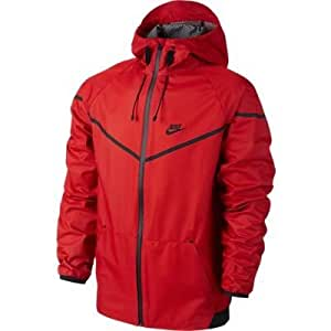 nike tech lamesh windrunner veste pour homme xl rouge rouge sports et loisirs. Black Bedroom Furniture Sets. Home Design Ideas