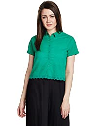 People Women's Button Down Top