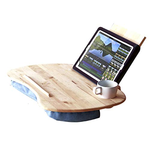 Tables basses Ordinateur lit de Bureau Bureau d'ordinateur Bureau en Bois Massif Portable Bureau d'étude Table de Bureau Chaise lit Bureau d'ordinateur (Color : Beige, Size : 58 * 35 * 10cm)