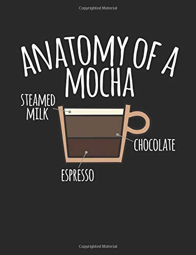 Anatomy Of A Mocha: A Cool Composition Notebook For Coffee Lovers