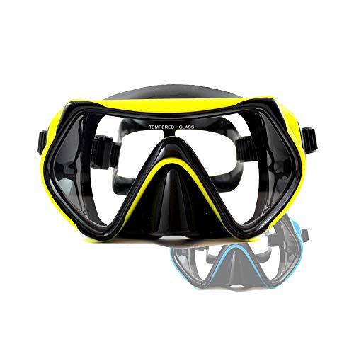 """LE PLUS VENDU : Masque de plongée """"Dive Under"""" de Sportastisch :: couche anti-buée :: mono-verre :: 100% étanche :: bande élastique-confort :: 3 ans de garantie produit (jaune)"""