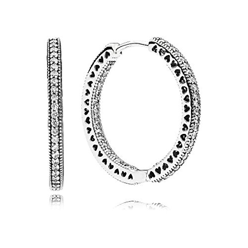 Pandora orecchini a cerchio donna argento - 296319cz