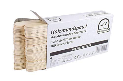 Holzspatel Mundspatel Spatel Bastelspatel von Medi-Inn verschiedene Mengen TOP (100 Stück)