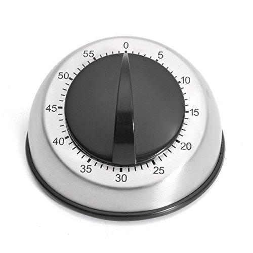 Preisvergleich Produktbild EsportsMJJ Edelstahl Dome 60-Minuten Küche Timer Countdown Mechanische Wind Up Clock