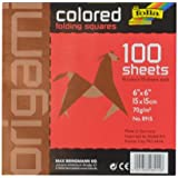 Generic Papier pour pliage Origami 15*15, 2 faces couleurs et pochettes de 100 feuilles assorties