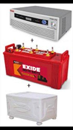 EXIDE IB 1500 + EXIDE 850 VA DIGITAL INVERTER + TROLLEY