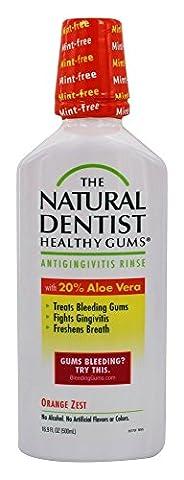 Natural Dentist - Healthy Gums Daily Oral Rinse Orange Zest, 16 fl oz liquid