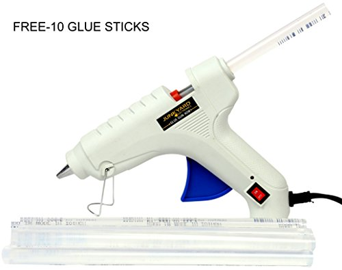Junkyard Electronics 40 Watts Glue gun[ON/OFF button] with *FREE* 10 Big glue sticks  available at amazon for Rs.299