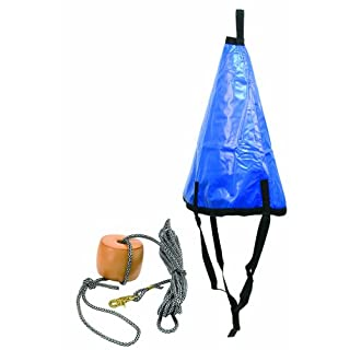 Anglers Choice Bo-Slo 36-Inch Drift Anchor with Water Resistant Poly-Pro Tow Rope, 25-Feet